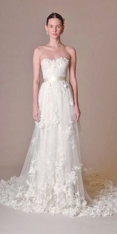 49695147988d 36 Floral Wedding Dresses That Are Incredibly Pretty