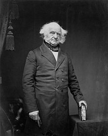 Martin Van Buren (1782-1862) was the eighth President of the United States (1837–1841). Before his presidency, he was the eighth Vice President (1833–1837) and the tenth Secretary of State, under Andrew Jackson (1829–1831). Van Buren was a key organizer of the Democratic Party, a dominant figure in the Second Party System, and the first president not of British or Irish descent—his family was Dutch. He was the first president to be born a US citizen.