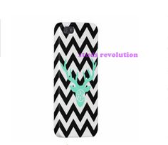 iPhone 5 case, iPhone 5s case, Personalized case, Chevron Deer hard plastic and rubber silicone case, Gift phone case