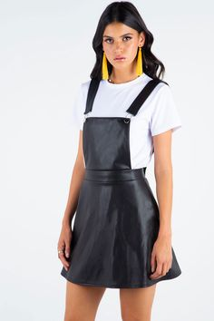 Route 66 A-Line Pinafore Dress ($89AUD) by BlackMilk Clothing