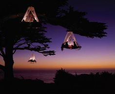 This is not on my bucket list, but it should be--I didn't know about this.  It is tent camping in California.