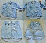 Sukně ze staré košile
