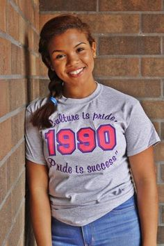 "SLG 1990 ""Culture is Pride"" Shirt l Sigma Lambda Gamma"
