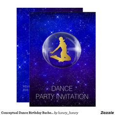 Conceptual Dance Birthday Bachelorette Party 9 Cm X 13 Cm Invitation Card