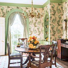 Beautiful Wallpaper Ideas Decorating Dining RoomsRoom