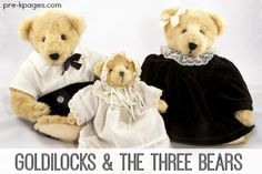 Goldilocks and the Three Bears Learning Activities for Preschool and Kindergarten. Literacy, math, and more!