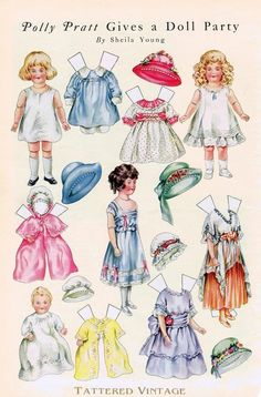 """""""In 1910 and 1911, The Boston Post, The Baltimore American, The New York Sunday American and The Public Ledger presented the children of their readers with a delightful series called Polly's Paper Playmates. Barbar Whitton Jendrick"""