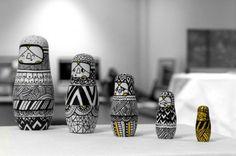 Matryoshka and geometric patterns