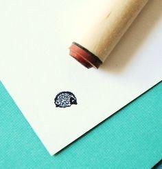 Hedgehog Rubber Stamp over at Etsy! adorable!    http://www.etsy.com/shop/norajane