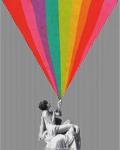 A collage by Wishing you a colourful Friday & weekend ahead! Photo Wall Collage, Collage Art, Collages, Frida Art, Hippie Art, Time Design, Postmodernism, Psychedelic Art, Grafik Design