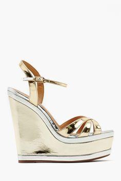 5dc93d964598 Double Platinum Wedge Platform Wedges Shoes