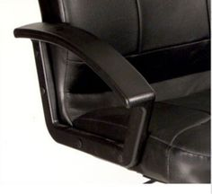 Contemporary Executive chair Wheeled Office Furniture Genuine Black Leather New
