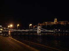 Night view of Budapest Danube