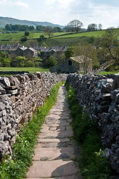 Pathway (Wharfedale, North Yorkshire, England) by Norman Smith cr.You can find Yorkshire england and more on our website. Yorkshire England, Yorkshire Dales, North Yorkshire, Yorkshire County, Cornwall England, English Garden Design, Nature Sauvage, Beau Site, Grades
