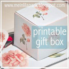 free printable vintage rose gift box - ausdruckbare Geschenkbox - freebie | MeinLilaPark – digital freebies