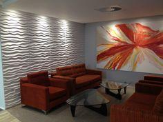 3D Wandpaneele Wohnzimmer - Geben Sie Ihren Räumen eine neue Wirkung mit Bambonello Paneele von Panelprince. Trend Design mit plastischer Raumgestaltung. Smart Art, Couch, Art 3d, Design, Painting, Furniture, Boards, Home Decor, Houses