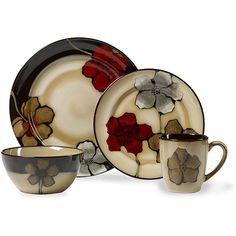 Pfaltzgraff Painted Poppies Dinnerware Set 16 pc - Overstock Shopping - Great Deals on Pfaltzgraff Casual Dinnerware