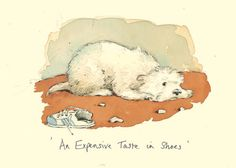 AN EXPENSIVE PAIR OF SHOES by Alison Friend - A Two Bad Mice Greeting Card