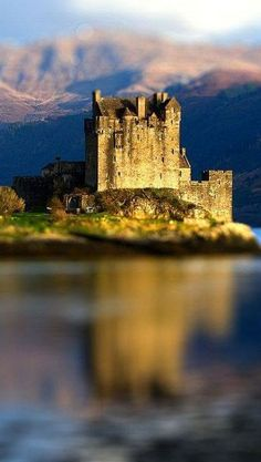 Eilean Donan Castle - Scotland; At the confluence of Loch Duich, Loch Long and Loch Alsh . from Iryna