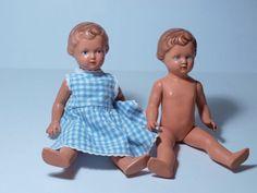2-Stueck-alte-SCHILDKROT-PUPPE-URSEL-SPIELPUPPE-25-Schildkroetpuppe-Spielzeug