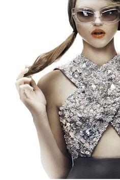silver sparkles