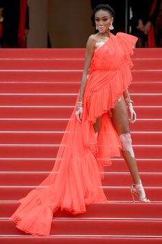 The Cannes Festival (French: Festival de Cannes), named until 2002 as the International Film Festival and known in English as the Cannes Fi. Cannes Film Festival, Jean Paul Gaultier, Hollywood Red Carpet, Blush Gown, Winnie Harlow, Plus Size Prom, Dior Haute Couture, International Film Festival, Models