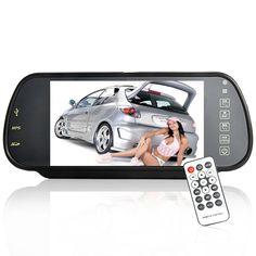 "7"" TFT Handsfree Rearview Mirror Monitor (MP4, Bluetooth, Remote)"