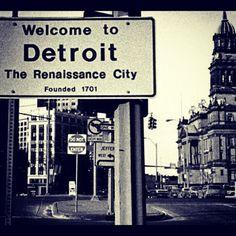 Welcome to Detroit.Ingresando a Detroit, MI, USA con mi auto rentado Detroit Rock City, Detroit Area, Metro Detroit, State Of Michigan, Detroit Michigan, Detroit State, Abandoned Detroit, Abandoned Places, Detroit Vs Everybody