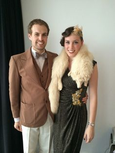 Art deco costumes for a Gatsby style ball - http://thetaranakigirl.blogspot.co.nz/2014/09/wine-musical-theatre-and-art-deco.html