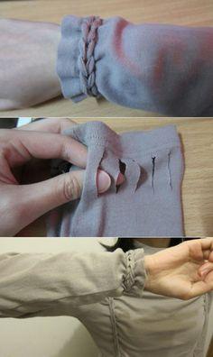 РУКАВ  укоротить - красивый способ плетения !    Укоротит ненамного, но максимум на пару см !  Смотрится  интересно и необычно !..  / Изменение размера /