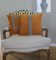 Custom Cushions - Love the contrast