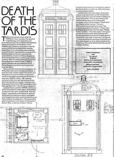 Death of the Tardis Part one