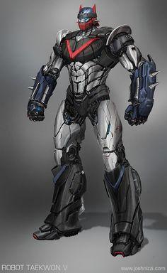 Robot Taekwon V by Josh Nizzi Gundam, Robot Concept Art, Robot Art, Combattler V, Transformers, Robot Cartoon, Japanese Robot, Metal Robot, Sci Fi Armor