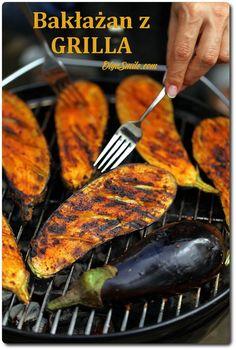 Bakłażan z grilla. Są dania, które uwielbiam. Bakłażan z grilla niewątpliwie do nich należy, jest w ścisłej czołówce :) Pyszny i aromatyczny bakłażan z grilla, Grilled Eggplant, Grill Pan, Tandoori Chicken, Bon Appetit, Grilling, Bakery, Bbq, Food And Drink, Veggies