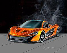 Supercar Print - McLaren P1 - Sports Car Print -  8x10 Giclee Print