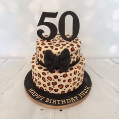 Animal print cake Cakes Cakes More Cakes Pinterest