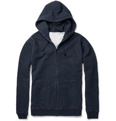 Maison Martin MargielaLoopback Cotton-Jersey Hoodie|MR PORTER