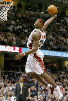 LeBron James wears the Nike Air Zoom Generation in 2003.