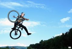Anthony Tomassi - VTT Rider - Table Top one foot   by WillVision Photography
