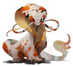 snake koi elephant A very strong monster if disturbed but it is also domes . - snake koi elephant A very strong monster if disturbed but it is also domes … - Mythical Creatures Art, Mythological Creatures, Magical Creatures, Cute Fantasy Creatures, Mystical Creatures Drawings, Creature Concept Art, Creature Design, Creature Drawings, Animal Drawings