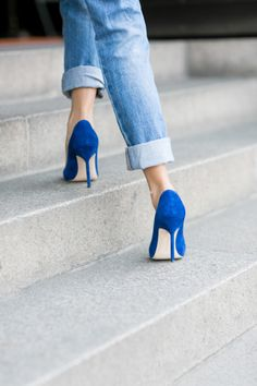 Cobalt coolness. Pair your J BRAND Boyfriend's with the perfect pair.