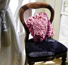Beautiful Pink Velvet Cushion - adds a a certain something to any room!