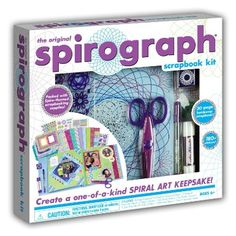 Kahootz 01003 Spirograph Scrapbook Kit --Create a beautiful, one-of-a-kind scrapbook you'll be proud to display, with this All-in-One Spirograph Scrapbook Kit. Thing to engage your kids this summer :-) They will simply love it!