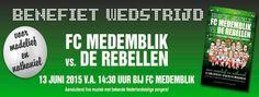 Medemblik - Op zaterdag 13 juni a.s. om 14.30 uur zal het eerste team van FC Medemblik een benefietwedstrijd spelen tegen FC De Rebellen, een team bestaande uit bekende oud-profvoetballers en ander...
