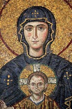 perfectthewayyouarerightnow:  Virgin Mary, Mosaic Icon  Hagia Sophia, Istanbul