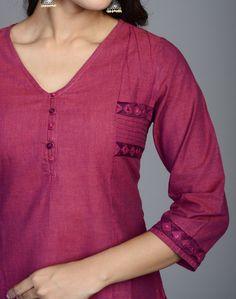 Fabindia.com | Cotton Mangalgiri Soof Embroidery Mirror Work Tunic