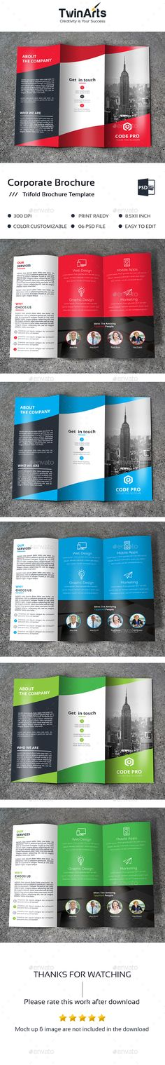 Trifold Brochure  Template Trifold And Brochures
