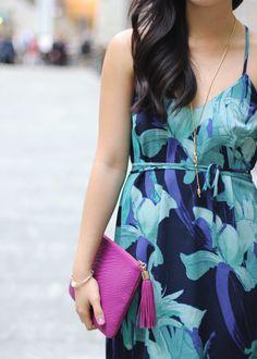 Blue & Turquoise Floral Dress