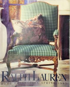 Ralph Lauren Home Archives, Unknown collection, Chair detail, Spring, 1993