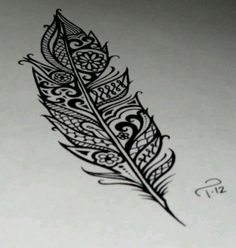 feather design This would be an Awesome henna tatoo! Ta Moko Tattoo, Backpiece Tattoo, Et Tattoo, Lace Tattoo, Quill Tattoo, Tattoo Pics, Mandala Tattoo, Ankle Tattoo, Lotus Tattoo